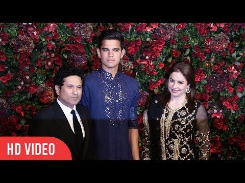 GOD of Cricket Sachin Tendulkar with Family at Deepika-Ranveer Reception Party