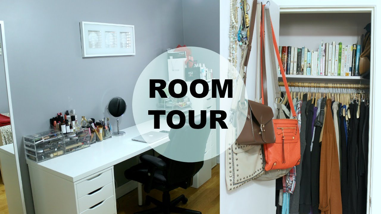 How To Make A Small Room Look Bigger Room Tour Office Organization Makeup Storage Tips To Make A