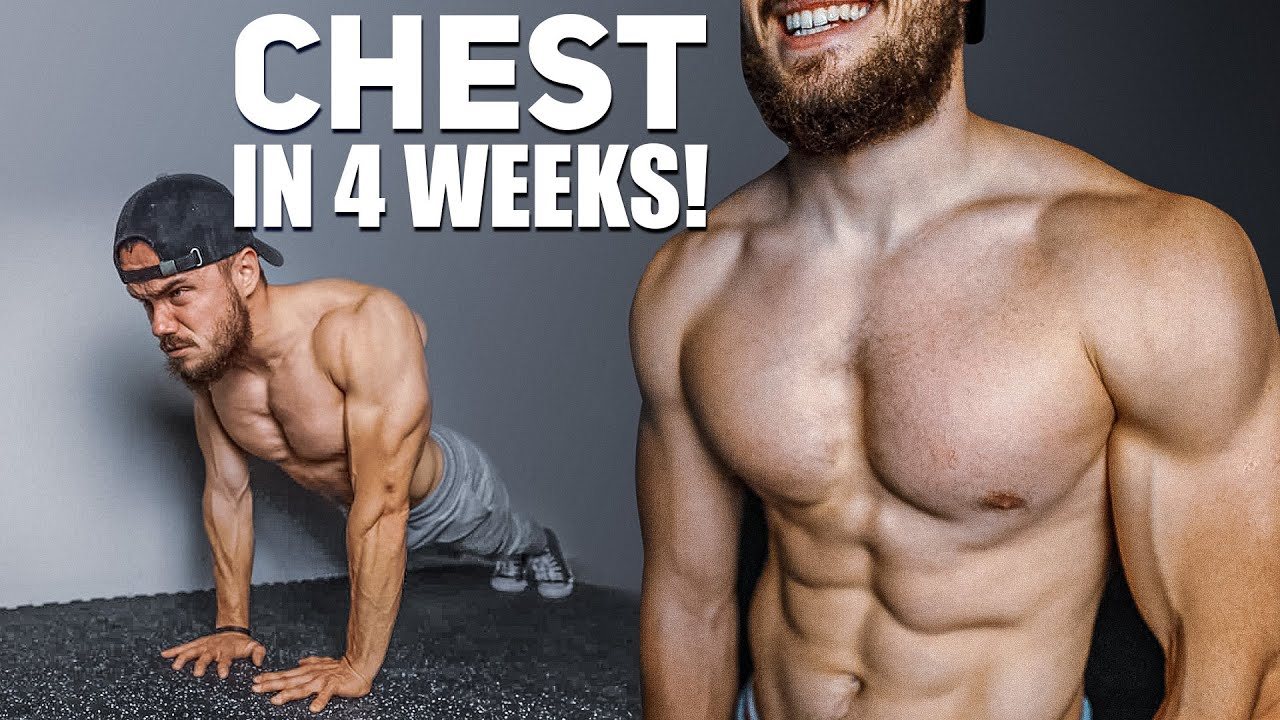 Get BIG CHEST in 4 WEEKS | 2021 Home Workout Challenge
