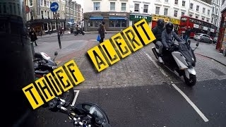 MOTORCYCLE BEING STOLEN! London style...