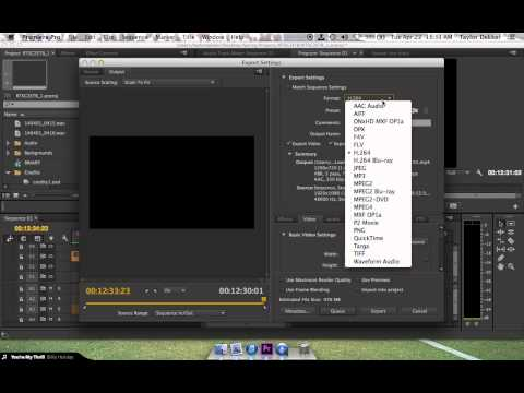 Exporting (in HD) for H.264 (.mp4) in Premiere Pro CC