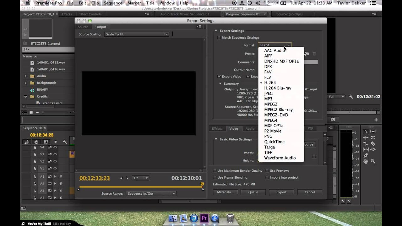 exporting in hd for mp4 in premiere pro cc youtube. Black Bedroom Furniture Sets. Home Design Ideas