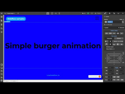 Webflow.io #3 - Simple burger animation tutorial