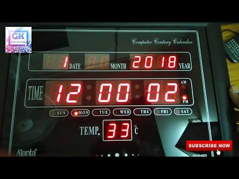 Ajanta OLC 103 digital Clock Unboxing review and how to set time | GREAT knowledge channel