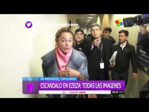 Las imágenes del escándalo de Diego Maradona en el aeropuerto de Ezeiza
