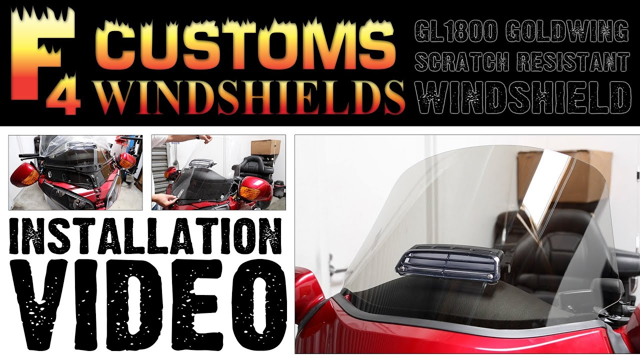 F4 Gl1800 Goldwing Windshield Installation I Honda Parts Seat Heat Wiring Diagram Accessories Wingstuffcom Youtube