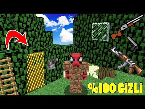 FAKİRİN %100 GİZLİ SİLAHLI AĞAÇ EVİ ! - Minecraft
