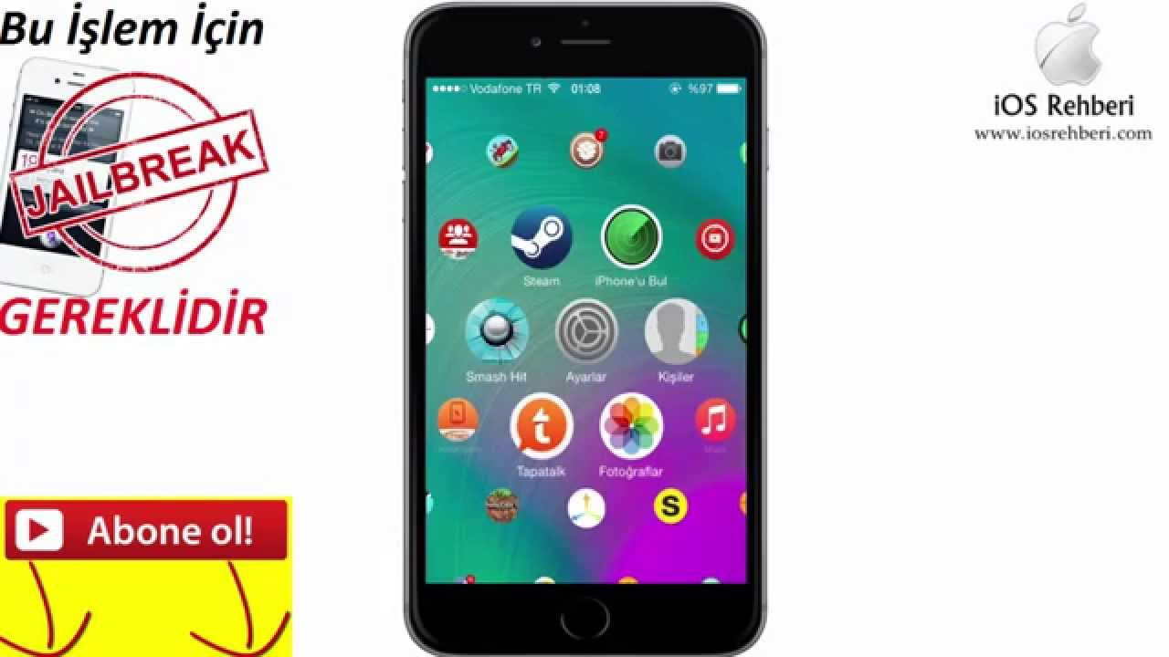 iphone 8 Plus jailbreaksiz tema