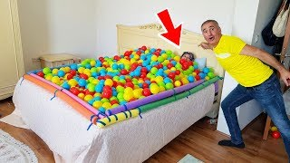 Asleep Surprise JOKE! Colorful Balls With Ayşe funny play pretend,WOW