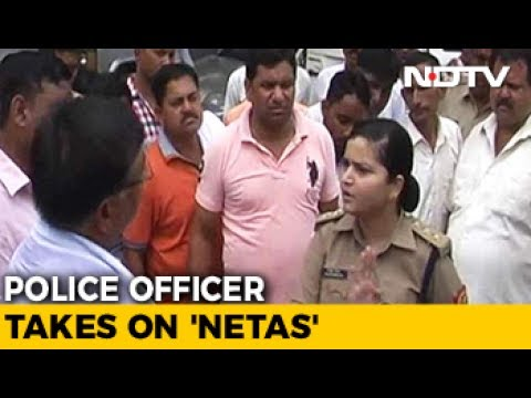Thumbnail: Woman Police Officer In UP Takes On Angry BJP Workers. Video Is Viral