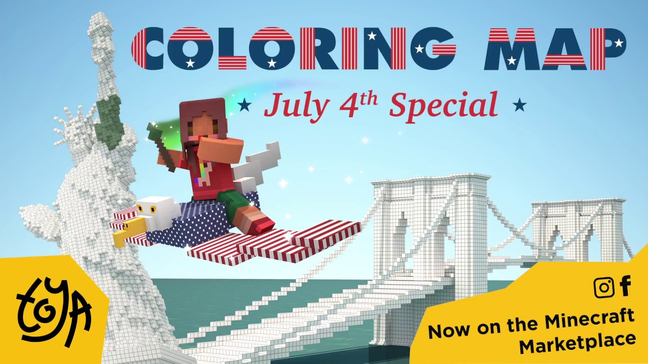 New Minecraft Map! Coloring Book: Fourth of July Special by Toya ...