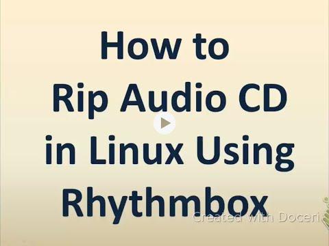 UBUNTU/LINUX: HOW RIP AUDIO CD USING RHYTHMBOX