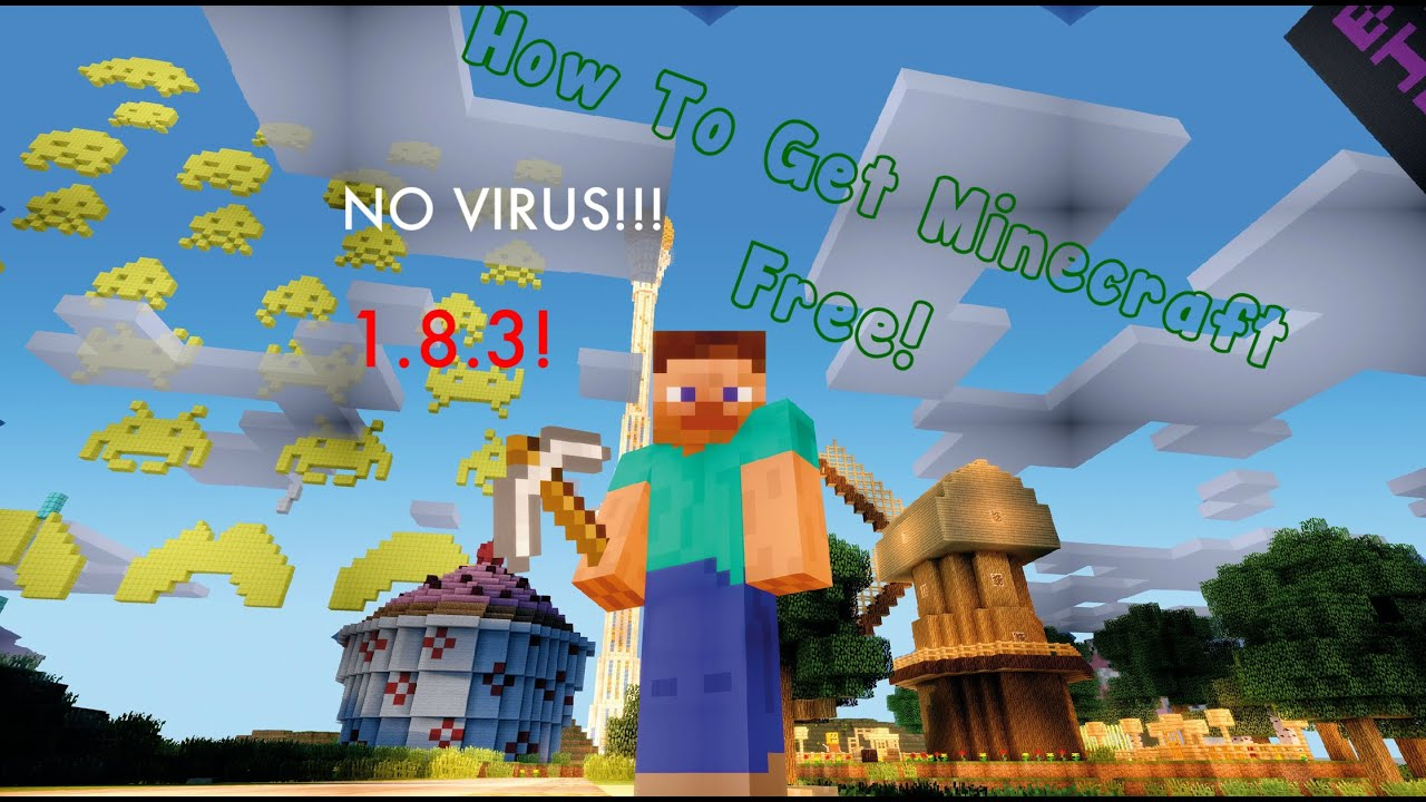 How to get minecraft free 1 8 3 pc mac no virus with for Mine craft free demo