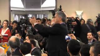 Government Supporters Disrupt OSCE Press Conference In...