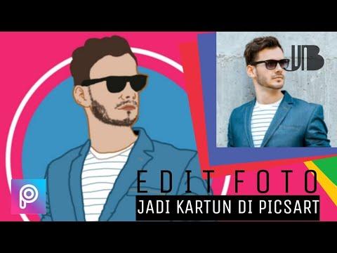 Tutorial Edit Foto Jadi Kartun Di Picsart Youtube