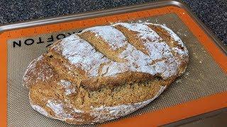 Хлеб на кефире без дрожжей. Вкусно, полезно и очень просто.