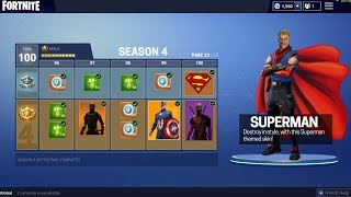 NEW FORTNITE SEASON 4 TIER 100 SKIN *LEAKED*!! BRAND NEW SEASON 4 BATTLE PASS SKINS!