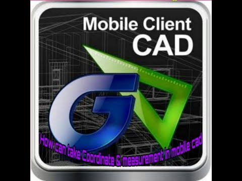 HOW CAN TAKE MEASUREMENT, ANGLE ,AREA,COORDINATE IN MOBILE CAD.(DWG FAST-VIEW)
