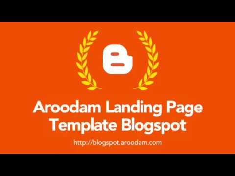 File Dokumentasi Aroodam Landing Page Template Blogspot - YouTube