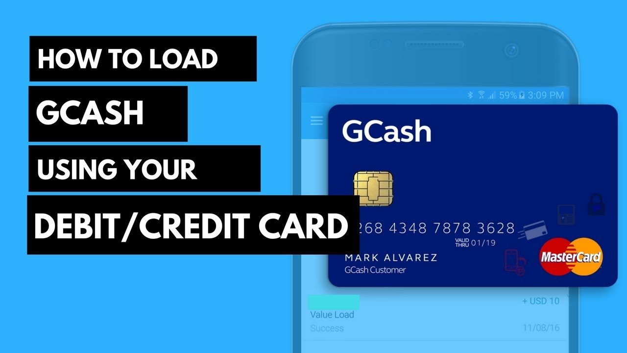 How to Load Gcash using MasterCard or Visa Card