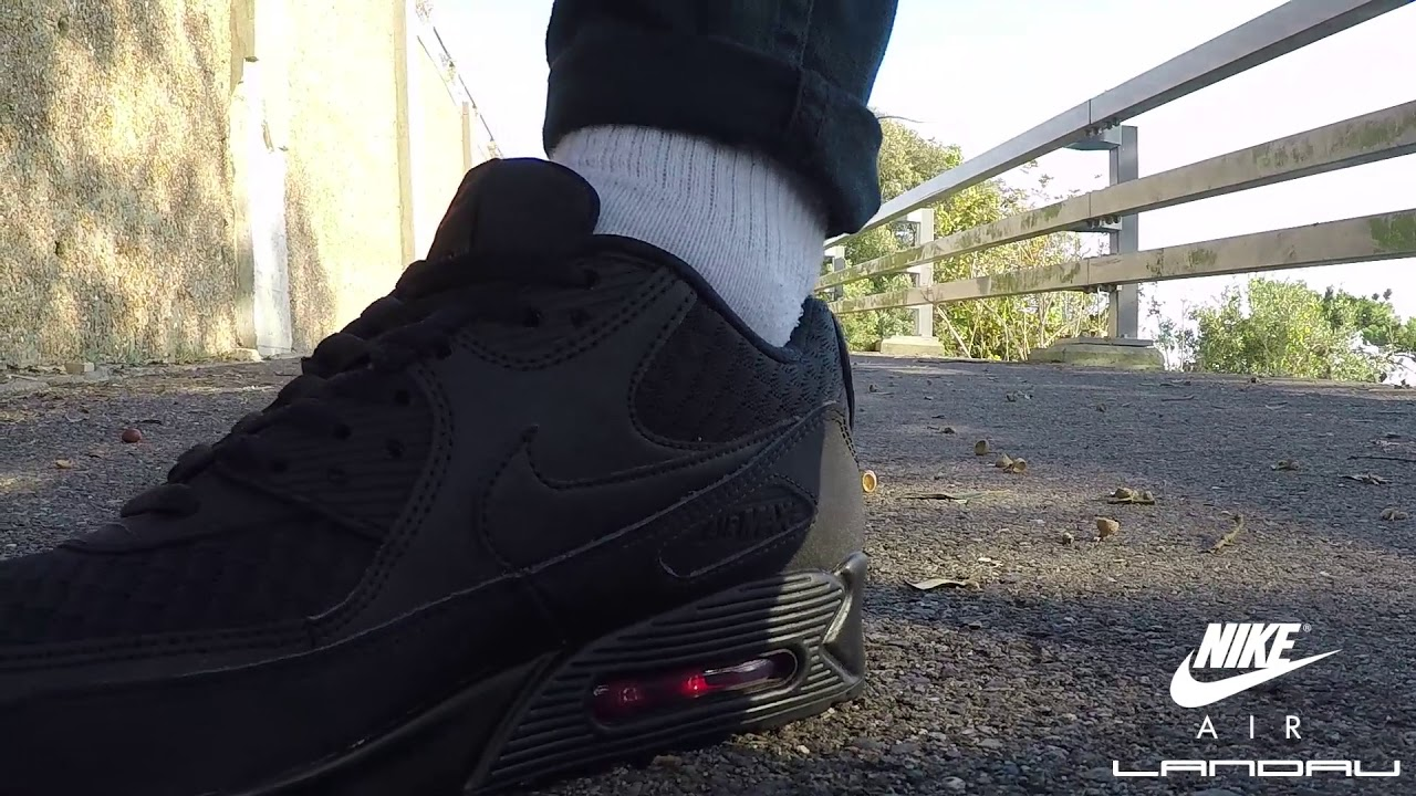 low priced a6b61 43c5f Nike Shoes Mens Air Max 90 Essential Black Metallic Silver Ninja Pack Video    Landau Store