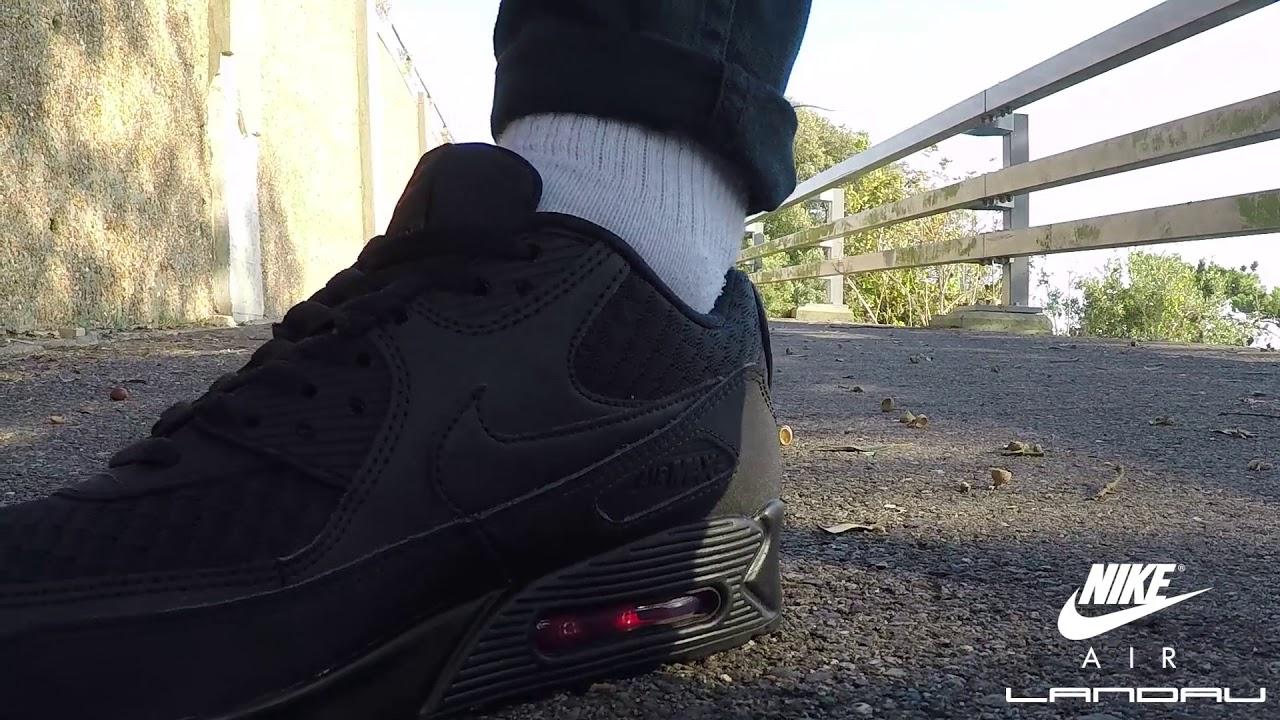 cheap for discount e4acd d29d6 Nike Shoes Mens Air Max 90 Essential Black Metallic Silver Ninja Pack Video  | Landau Store