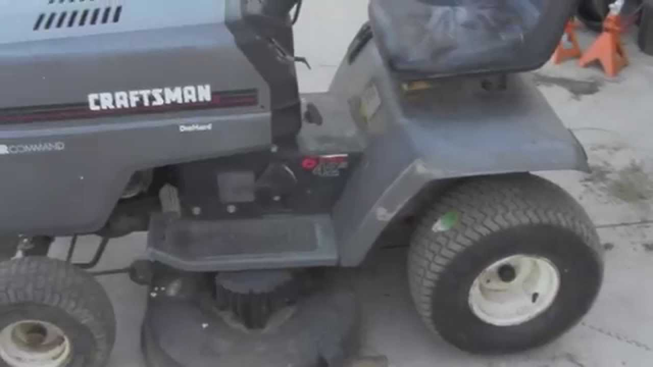 Fix And Drive The Craftsman Lt4000 Riding Mower