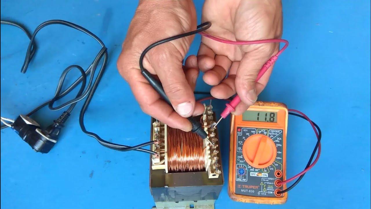 Cómo Hacer Un Transformador De 12 Voltios A 12 Amperios Muy Fácil Youtube