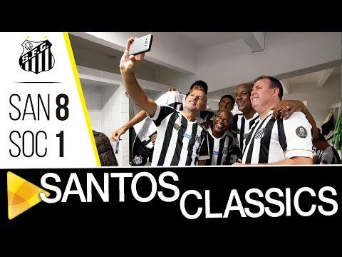 Santos Classics é lançado em partida amistosa com associados do Peixe