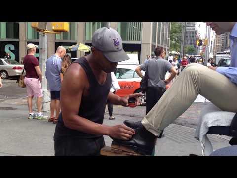 Shoe Shine In New York - Don Ward Best Street Shoe Shine