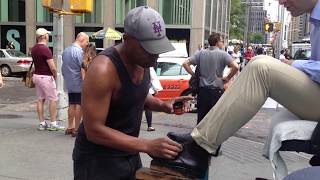 Shoe Shine In New York - Don Ward Best Street Shoe Shine