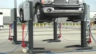 Подкатные колоны для грузовых автомобилей NUSSBAUM MCS(Комплект из 4 колонн с беспроводным соединением, технология SST, возможно расширение до 8 колонн С уважением..., 2014-01-10T08:11:41.000Z)