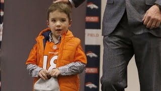 4-Year-Old Son of Peyton Manning Gets All The Attention at Press Conference