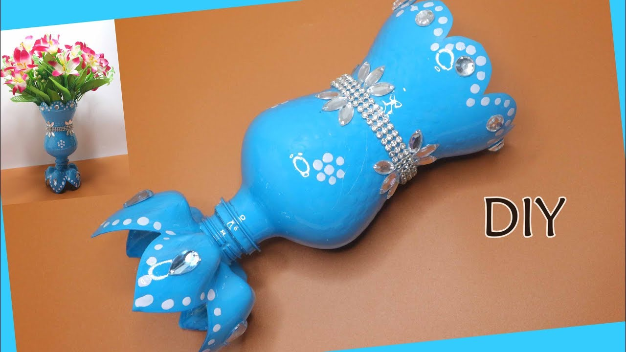 Kreasi Botol Bekas Vas Bunga Dari Botol Fanta Cute Flower Vase Diy Art And Craft Ideas Youtube