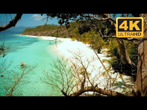 Amazing Tropical 4K Beach Scene Relaxing