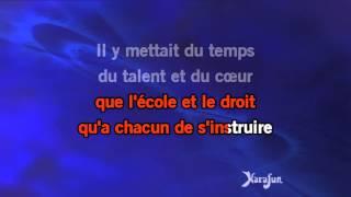Karaoké Il changeait la vie - Jean-Jacques Goldman *