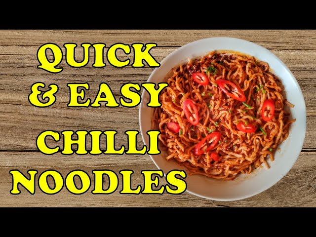 Quick Simple and Easy Chilli Noodles Recipe 🌶🍜