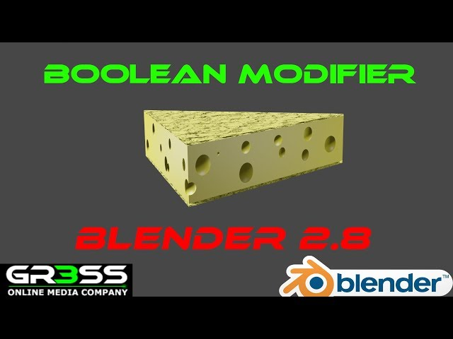 Blender 2.8 Boolean Modifier Tutorial Deutsch