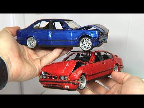 КРАШ ТЕСТ двух BMW из ПЛАСТИЛИНА, какая из них крепче?