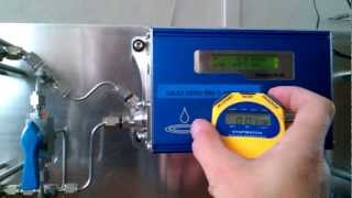 MCM moisture meter in real time showing fast response and repeatability