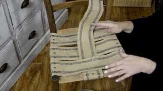 DIY: How to Restore and Restrap an Antique Chair