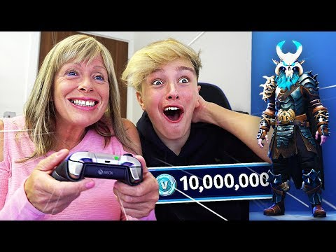 SURPRISING MORGZ WITH *NEW* $1000 FORTNITE SKIN!! (Fortnite Season 5 Ragnarok Skin)