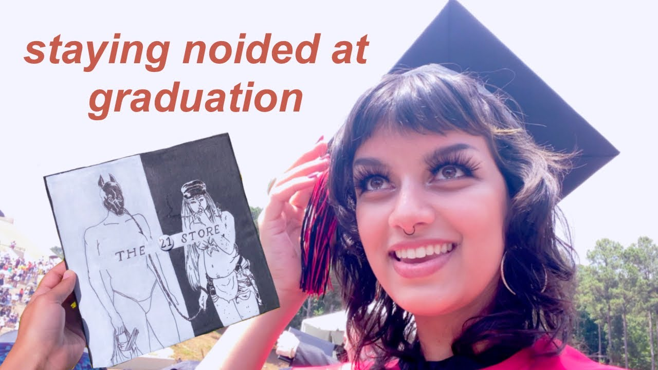 PAINTING THE MONEY STORE ON MY GRADUATION CAP // and listen to me ramble lol
