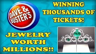 Dave and Busters Arcade Games and MILLIONS of dollars in Jewels! Jackpots and Diamonds! TeamCC