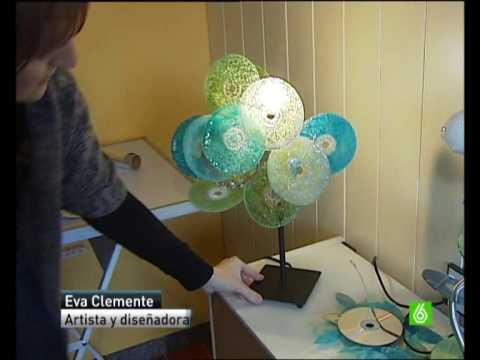 Reciclaje de cds reportaje en la sexta con eva clemente for Reciclaje manualidades decoracion