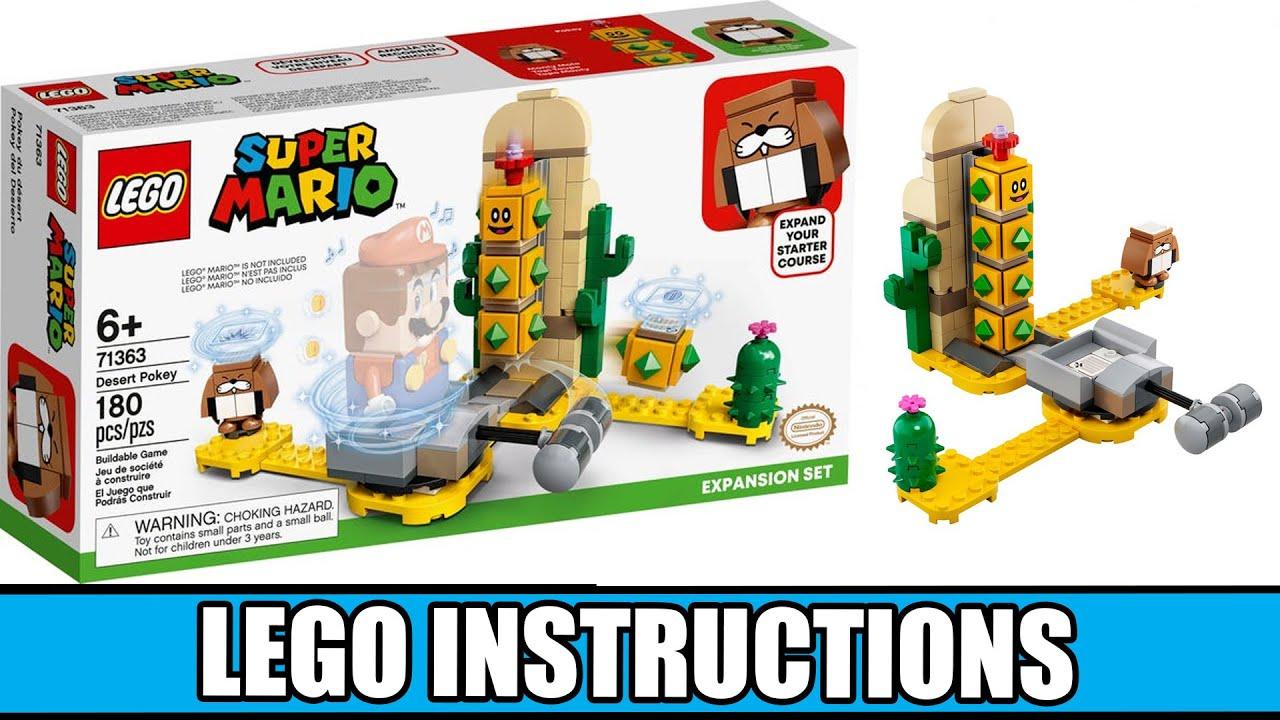 LEGO Instructions: How to Build Desert Pokey Expansion Set - 71363 (LEGO SUPER MARIO)
