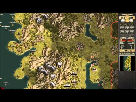 Let's Play Panzer Corps Part 2 [Norway, the perfect location for Uboat pens]