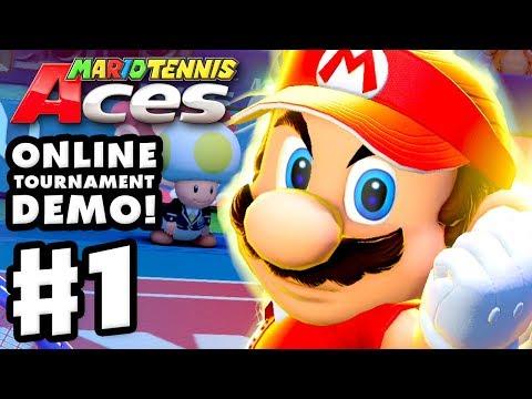 Mario Tennis Aces Online Tournament Demo - Gameplay Part 1 - Mario! (Nintendo Switch)