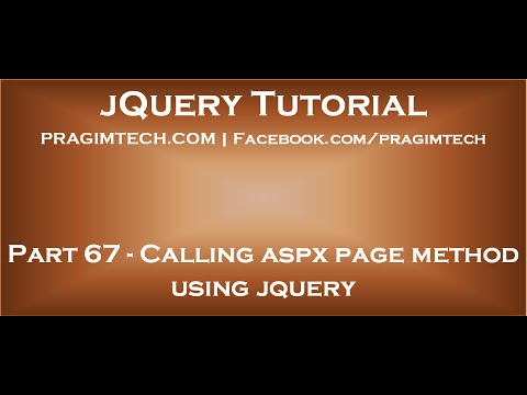 Calling aspx page method using jquery