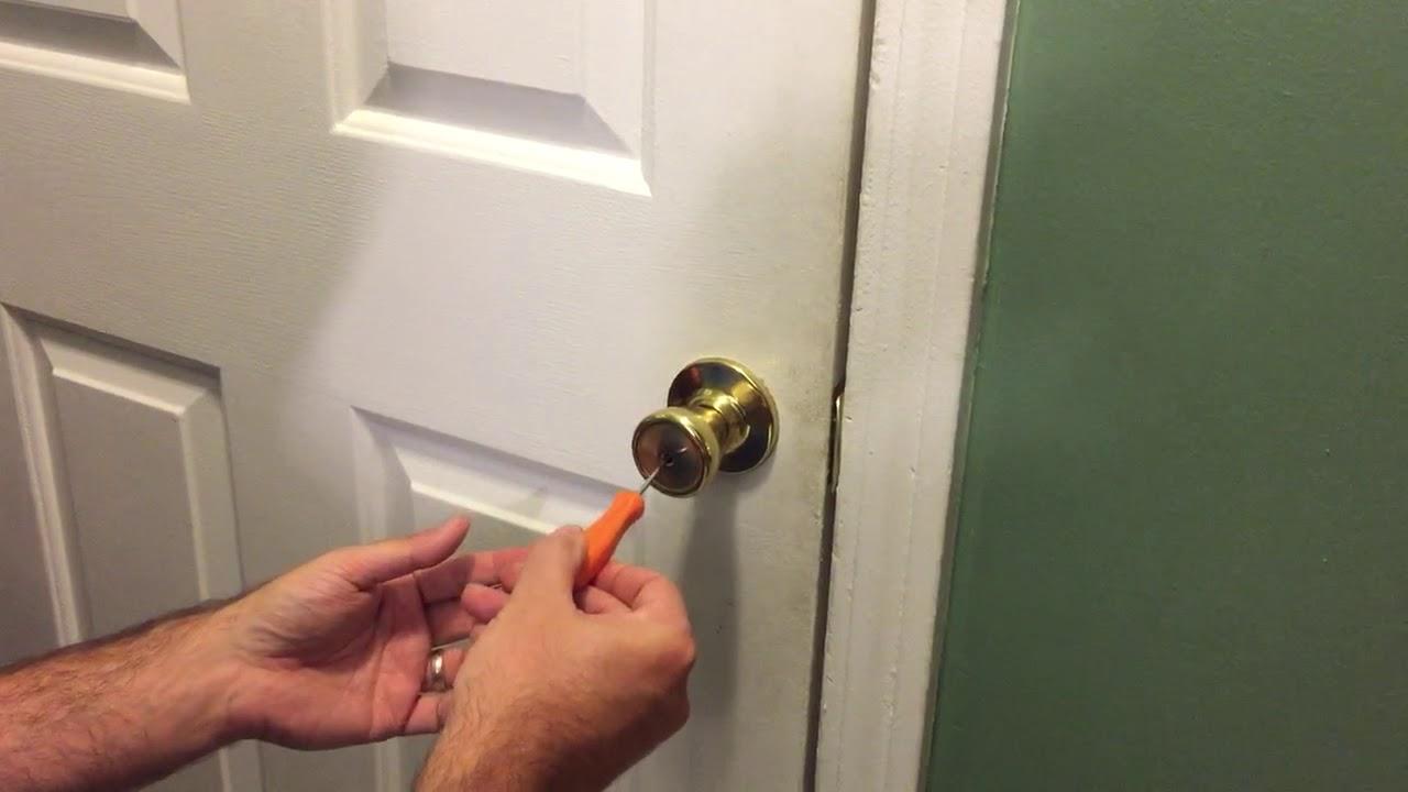 How To Open Bedroom Bathroom Privacy Lock